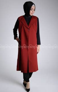 Cardigan Panjang Semata Kaki 25 style rompi dan cardigan busana muslim remaja terkini