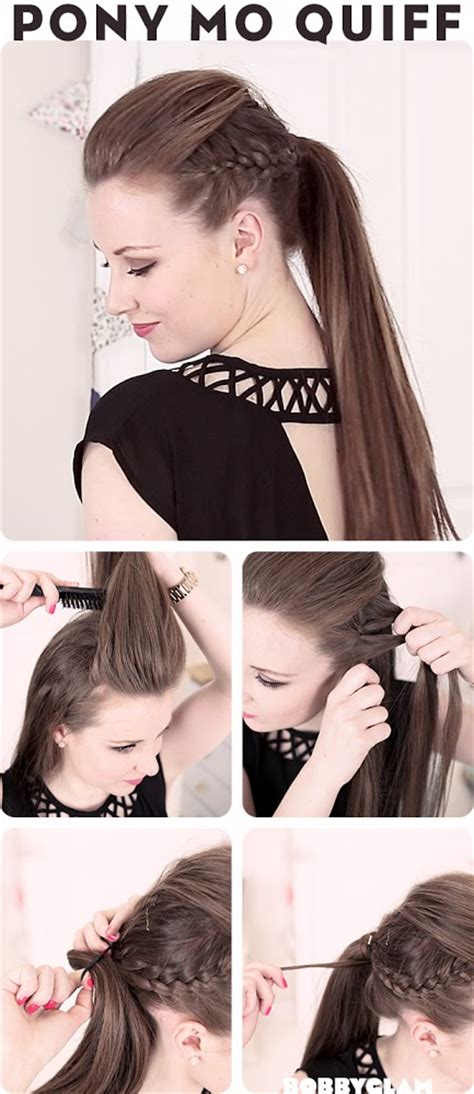 hair pieces to wear with fo hawk hairstyle mohawk quiff ponytail hair tutorial hairstyles tutorial