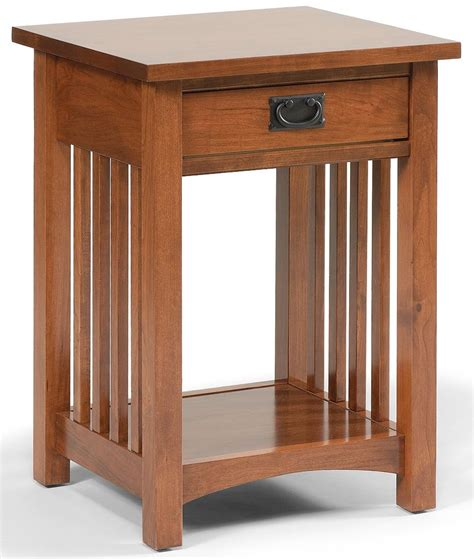 Mission Style Nightstands Mission Style Open Nightstand With 1 Drawer 1 Shelf