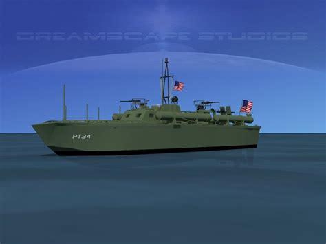 pt boat elco elco pt boat pt 34 3d model game ready rigged max obj