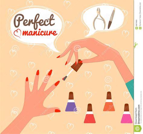 manicure gift card template manicure concept gift certificate glamur