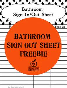 Bathroom Sign Out Sheet Bathroom Sign Out On