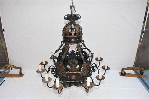 Large Iron Chandelier Large And 1930 Wrought Iron Chandelier For Sale At 1stdibs
