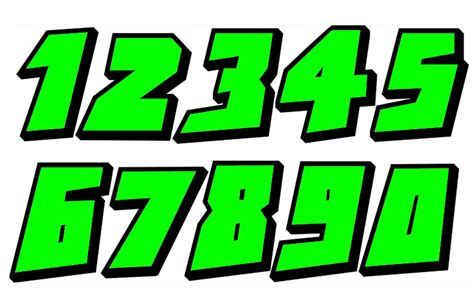 Auto Decal Numbers by Sticker Number Cars Bikes Font 5 Racing Numbers Decal Ebay