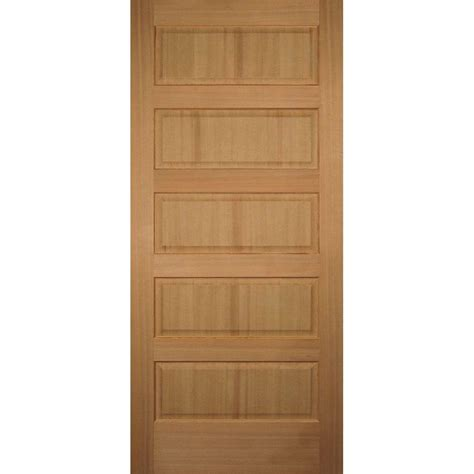 Hemlock Interior Doors Builder S Choice 36 In X 80 In 5 Panel Solid Hemlock Single Prehung Interior Door
