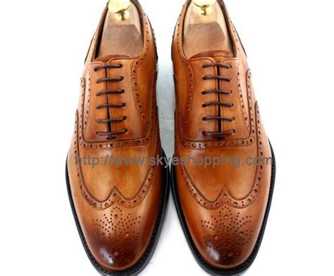 Lv Kekinian Leather Brown Monq by Cie07 Free Shipping Custom Made S Brogue Wingtip