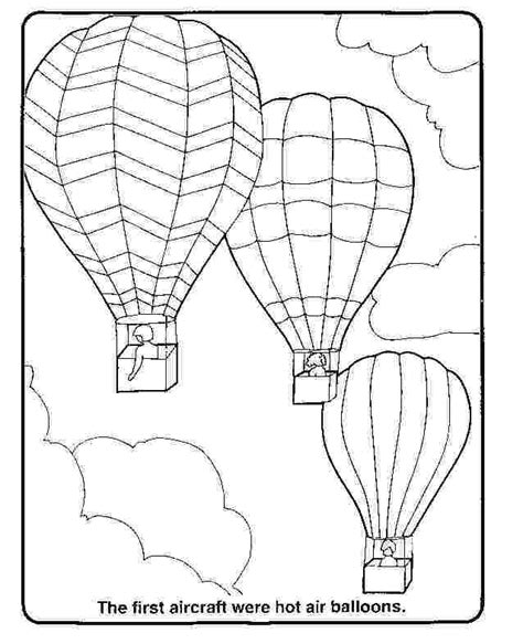 Hot Air Balloons Coloring Pages Coloring Home Air Balloon Coloring Page