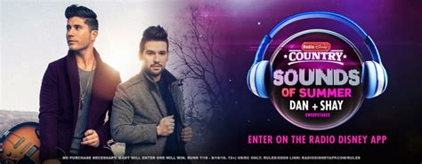 Disney Summer Sweepstakes - radio disney country sounds of summer dan shay sweepstakes