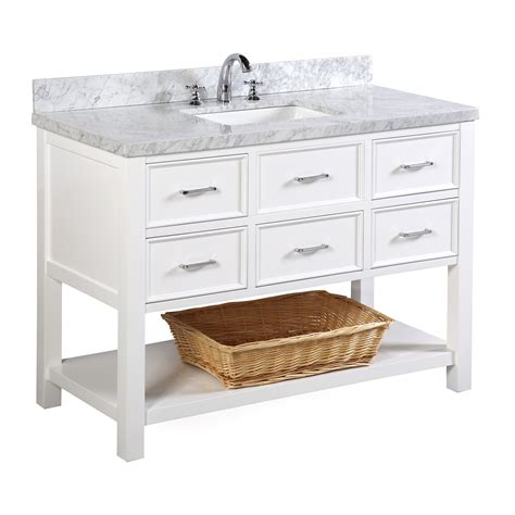 Bathroom Vanities Nh New Hshire 48 Inch Vanity Carrara White Kitchenbathcollection