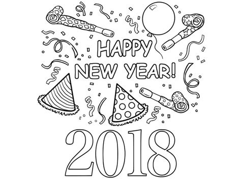 why is the new year color happy new year 2018 coloring pages merry