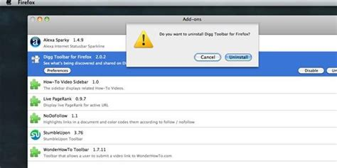 google themes uninstall list of firefox extensions