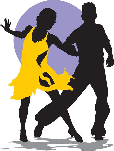 silhouette vector dancing latino music silhouettes vector