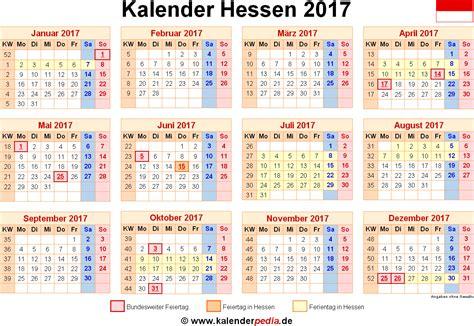 Feiertage Kalender 2017 Kalender 2017 Hessen Ferien Feiertage Excel Vorlagen