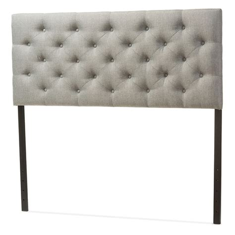 tufted full size headboard baxton studio viviana modern and contemporary grey fabric