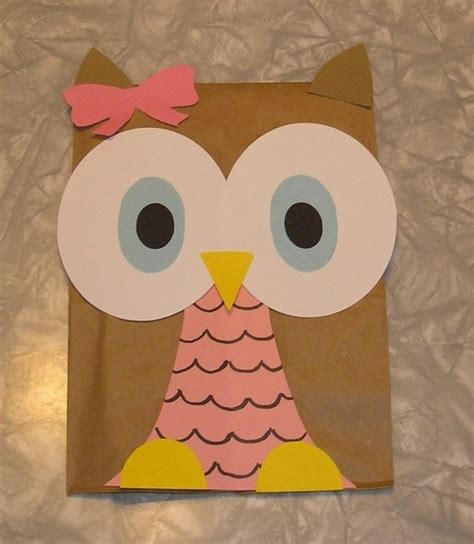 Paper Bag Owl Craft - discover and save creative ideas