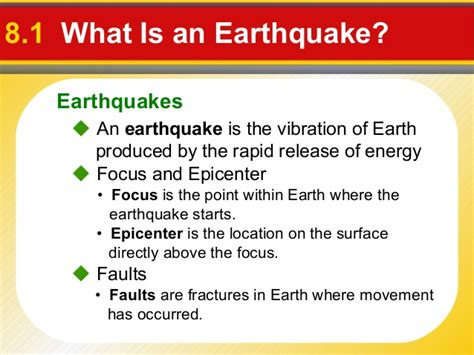Prentice Hall Earth Science Ch08 Earthquakes Layers Of Earth