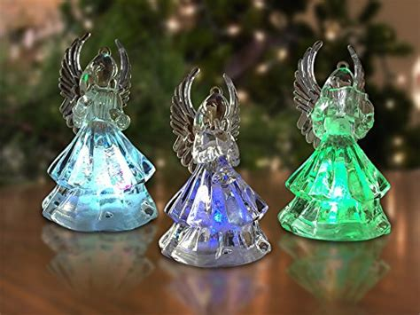 color changing lighted cat christmas tree figurine lighted christmas angel figures 3 led color changing