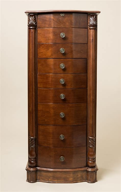 louis xvi jewelry armoire louis xvi walnut armoire storage cabinet chest stand jewelry organizer necklace ebay