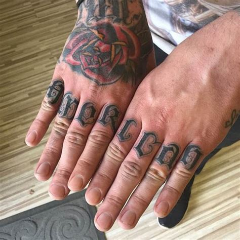 knuckle tattoo ideas 88 badass knuckle tattoos that look powerful