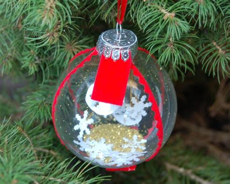 Handmade Ornament - snow globe ornament hgtv