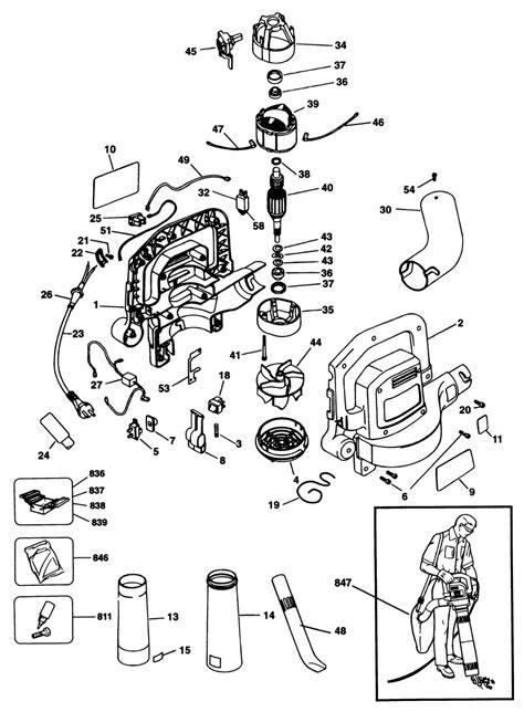 black decker gw 150 black decker gw150 type 2 blower vac spare parts part