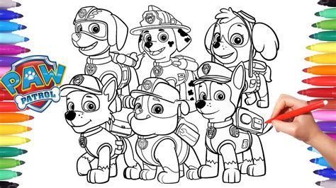 coloring paw patrol paw patrol coloring book how to draw paw pups for