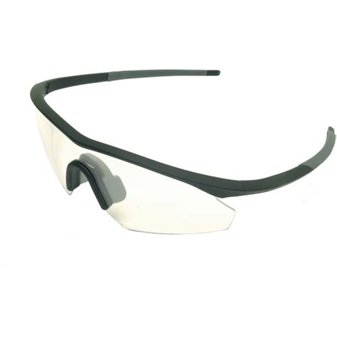 shields single clear lens glasses with compact