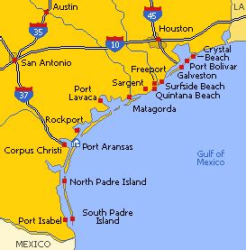 beaches in texas map texas beaches on the gulf of mexico