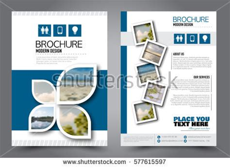 Flyer Design Business Brochure Template Annual Stock Vector 577615597 Shutterstock Ads Report Template