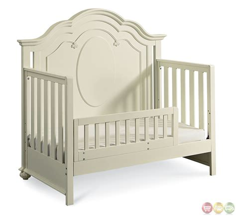 Convertible Crib White Antique White Traditional Convertible Crib