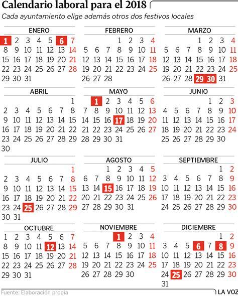 Calendario 2018 Laboral España 191 Cu 225 Ndo Cuadran Los Festivos Y Puentes Calendario