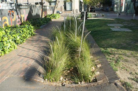St Garden Vs file planted brick swale balfour pocket park jpg wikimedia commons