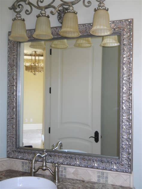 frames for existing bathroom mirrors beautiful and elegant mirror frame kits traditional