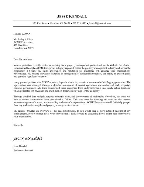 academic cover letter sle template