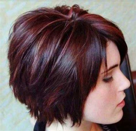 short hair cuts with dark brown color with carmel highlights 30 really stylish color ideas for short hair the best