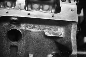 Ford Engine Block Codes The Ford 289 And 302 Engine Block