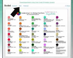icing color mixing chart printable baked by joanna