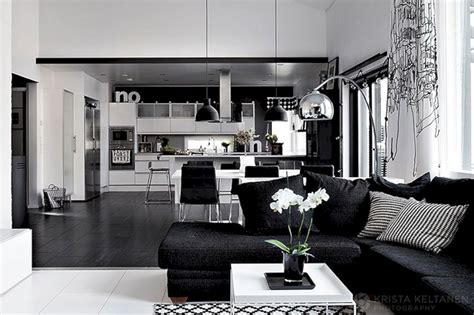 black and white home interior design black and white home