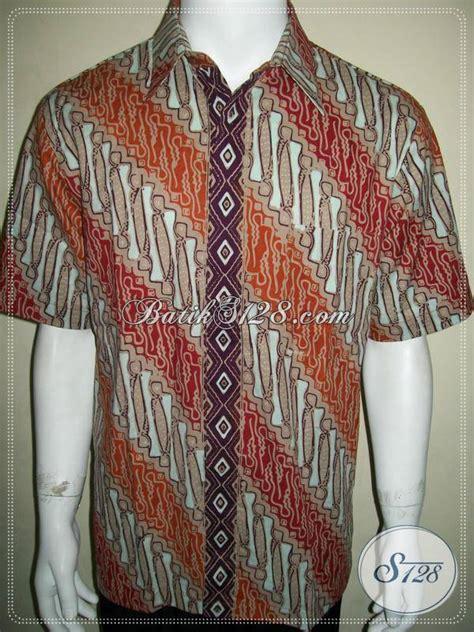 Kemeja Lengan Pendek Pria Satria Batik toko batik pria sedia kemeja batik motif parang
