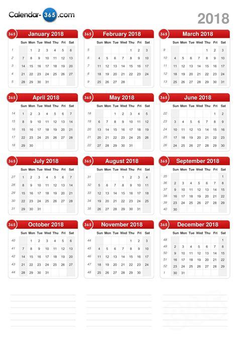A C T Calendar 2018 Calendar