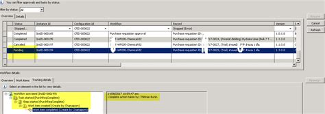 ax 2009 workflow workflow completed with status pending in ax 2009