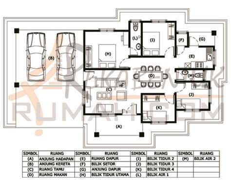 layout rumah 4 bilik design rumah b1 27 4 bilik 2 bilik air 57 x 33
