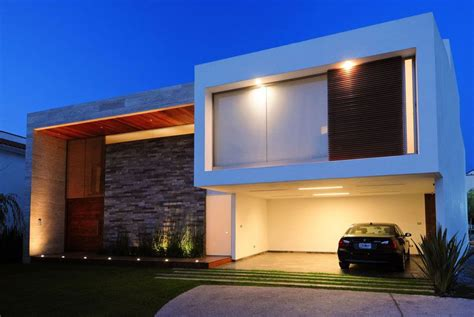 contemporary houses front view modern house  tiles