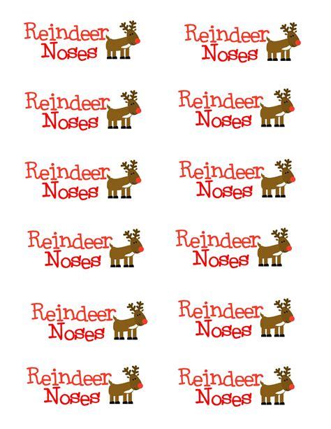 printable reindeer nose tags reindeer noses printable gift tags memes