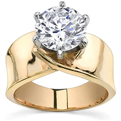 wide band moissanite solitaire setting sol230 745 00