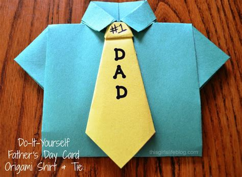 Origami Shirt With Tie - s day card diy origami shirt tie