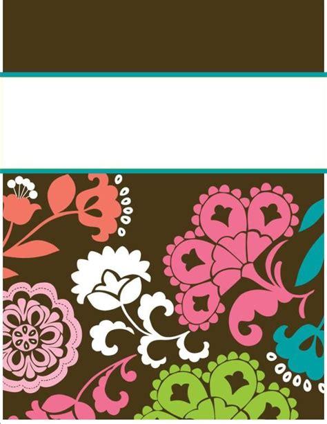 vera bradley recipe card template my binder covers template binder cover templates