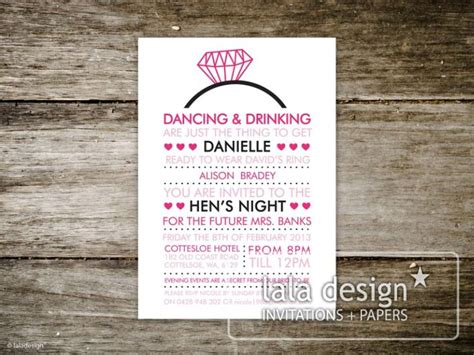 hens night invites wording google search invites