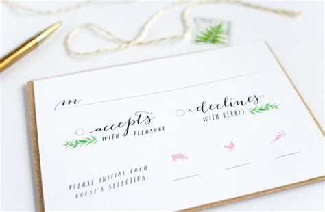 Wedding Invitations Rsvp Sles by Wedding Response Card Template With Meal Choice Wedding
