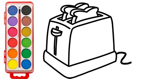 coloring pages kitchen appliances how to electric toaster kitchen appliances coloring